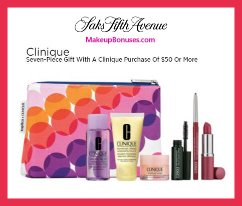 Receive a free 7-pc gift with $50 Clinique purchase #saks
