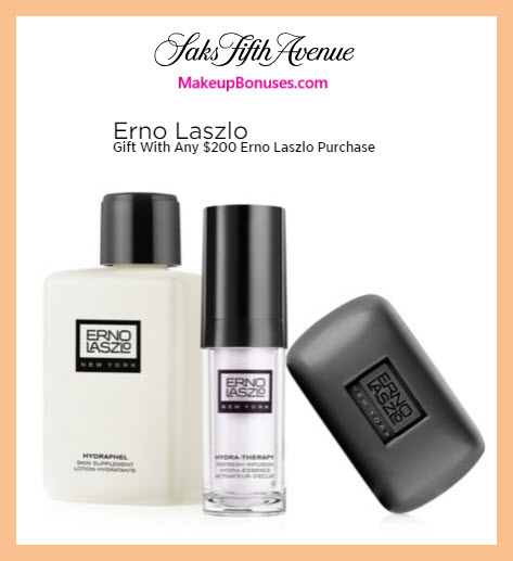 Receive a free 3-pc gift with $200 Erno Laszlo purchase #saks