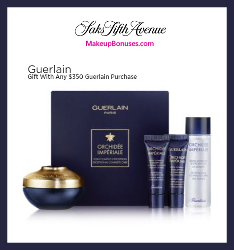 Receive a free 4-pc gift with $300 Guerlain purchase #saks