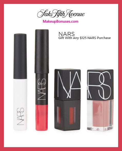 Receive a free 4-pc gift with $125 NARS purchase #saks