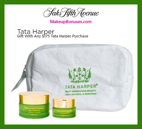 Receive a free 3-pc gift with $175 Tata Harper purchase #saks