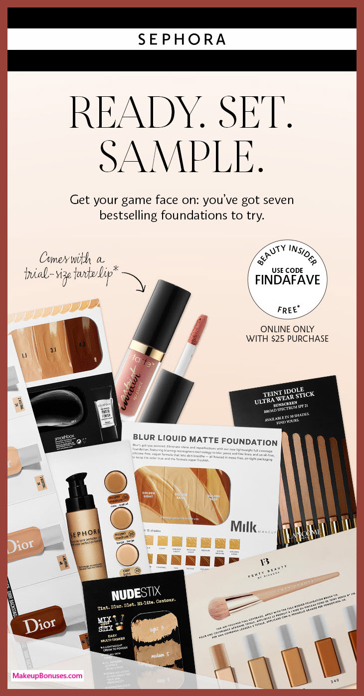 Receive a free 8-pc gift with $25 Multi-Brand purchase #sephora