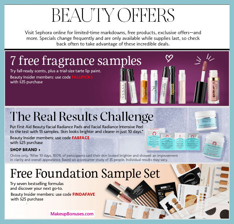 Receive a free 13-pc gift with $25 Multi-Brand purchase #sephora