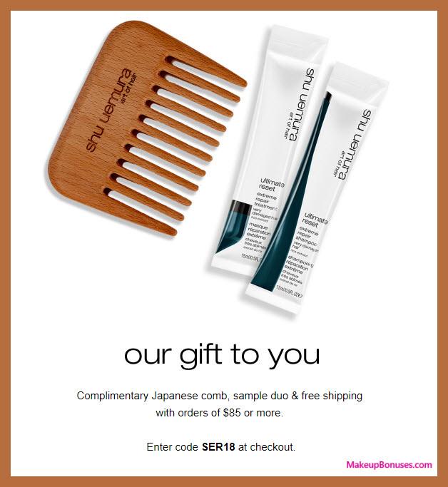 Receive a free 3-pc gift with $85 Shu Uemura Art of Hair purchase #Shu_ArtofHair