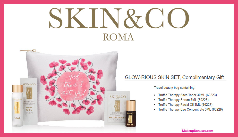 Receive a free 5-pc gift with $65 Skin and Co Roma purchase #SkinAndCo