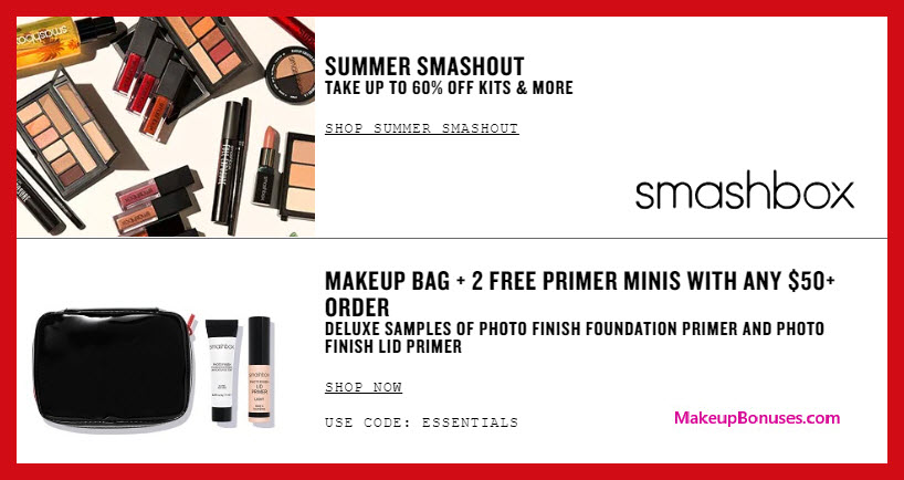 Receive a free 3-pc gift with $50 Smashbox purchase #smashbox