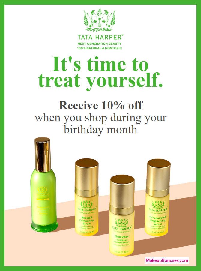Tata Harper Birthday Gift - MakeupBonuses.com #TataHarper