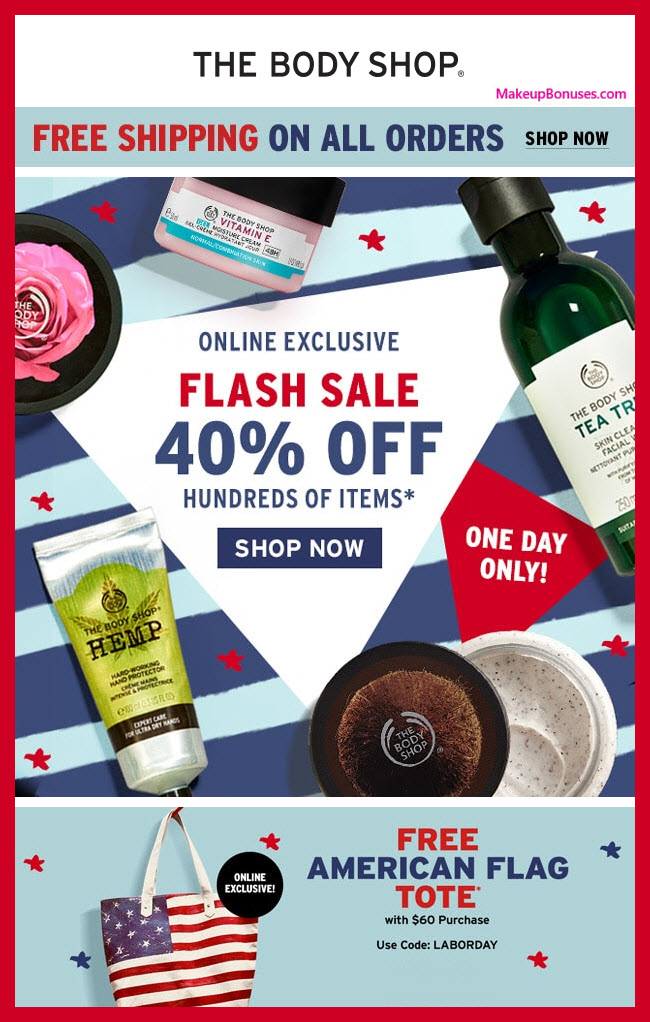 The Body Shop Sale - MakeupBonuses.com