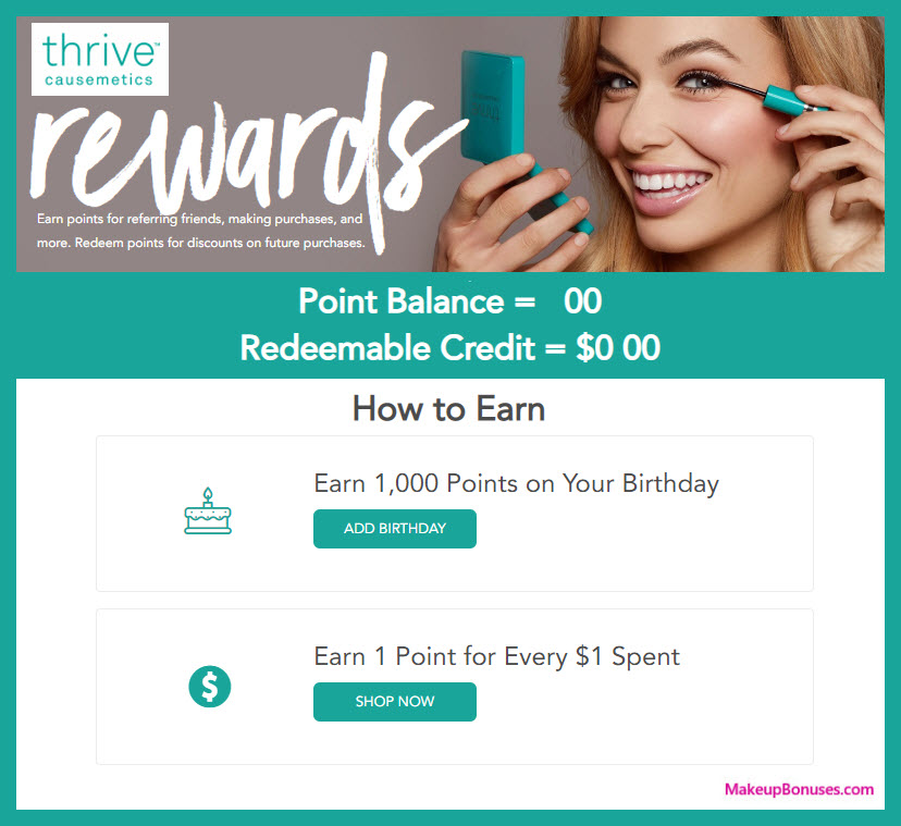 Thrive Causemetics Birthday Gift - MakeupBonuses.com #ThriveCausemetics
