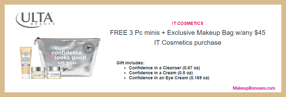 Receive a free 4-pc gift with $45 It Cosmetics purchase