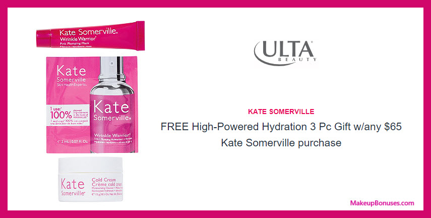 Receive a free 3-pc gift with $65 Kate Somerville purchase