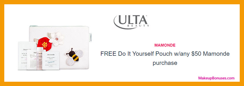 Receive a free 5-pc gift with $50 Mamonde purchase