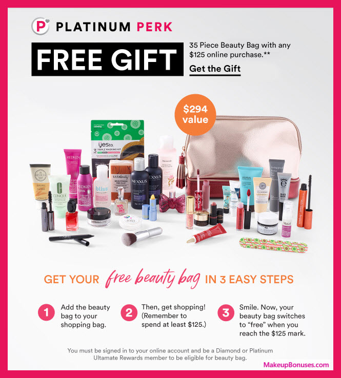 Receive a free 35-pc gift with $125 (Platinum or Diamond members only) purchase #ultabeauty