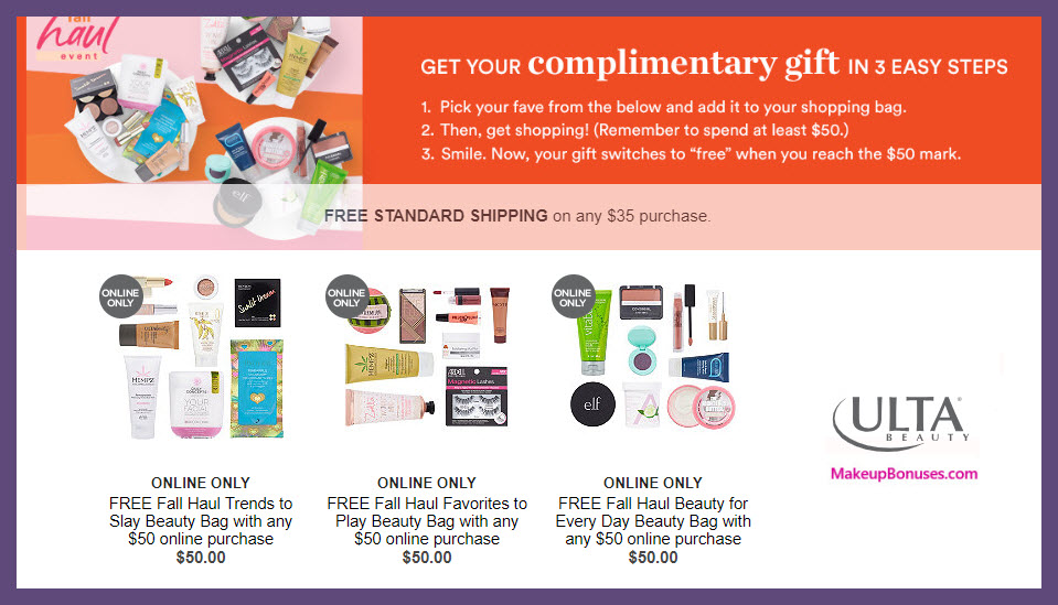 Receive your choice of 9-pc gift with $50 Multi-Brand purchase #ultabeauty