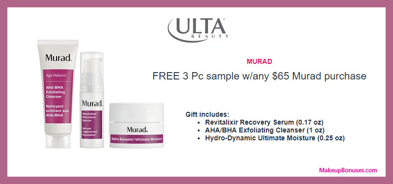Receive a free 3-pc gift with $65 Murad purchase