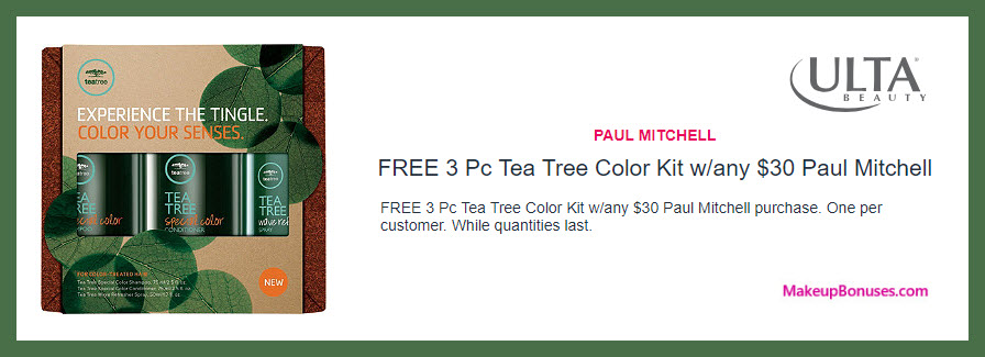Receive a free 3-pc gift with $30 Paul Mitchell purchase #ultabeauty