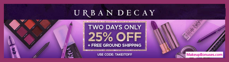 Urban Decay Sale - MakeupBonuses.com