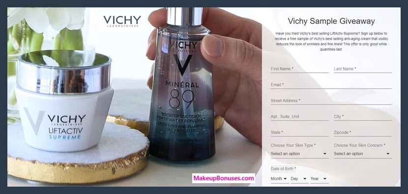 Vichy Free Sample - MakeupBonuses.com
