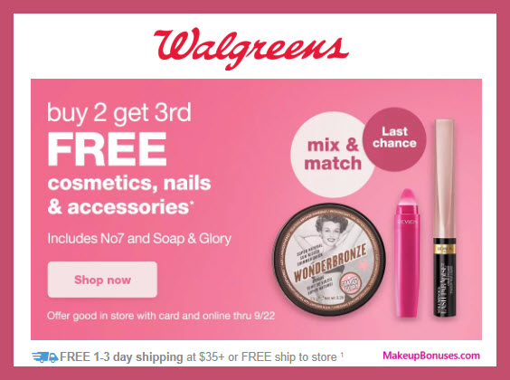 Walgreens Sale - MakeupBonuses.com