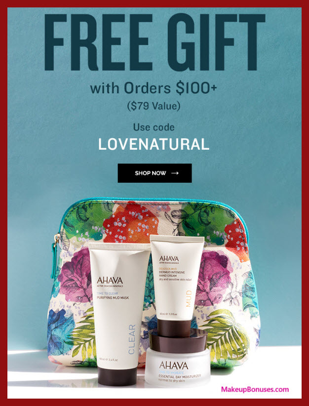 Receive a free 4-pc gift with $100 AHAVA purchase #ahava_us