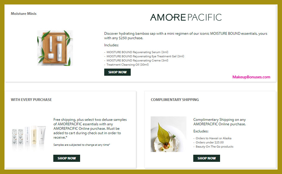 Receive a free 4-pc gift with $250 AMOREPACIFIC purchase #AMOREPACIFIC_US