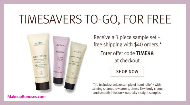 Receive a free 3-pc gift with $40 Aveda purchase #aveda