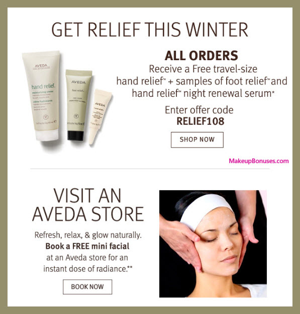 Receive a free 3-pc gift with purchase #aveda