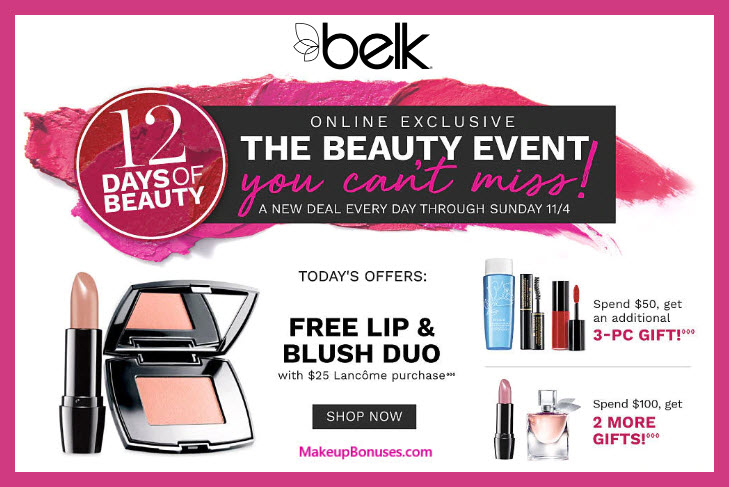 Receive a free 5-pc gift with $50 Lancôme purchase #belk