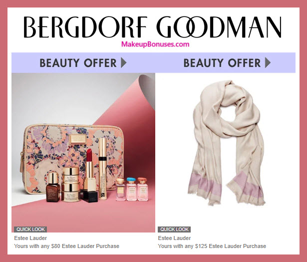 Receive a free 7-pc gift with $80 Estée Lauder purchase #bergdorfs