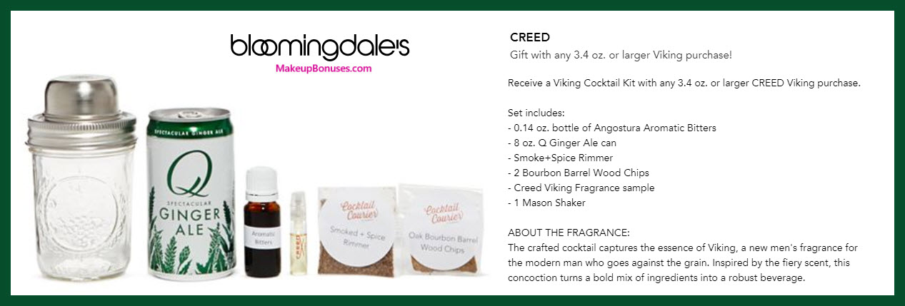 Receive a free 6-pc gift with Viking 3.4oz or larger purchase #bloomingdales