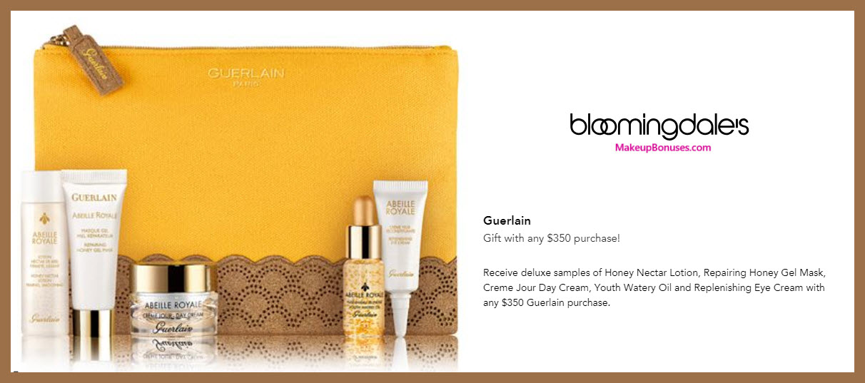 Receive a free 6-pc gift with $350 Guerlain purchase #bloomingdales