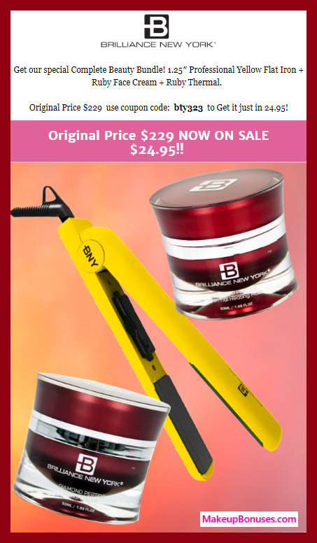 Brilliance New York Sale - MakeupBonuses.com