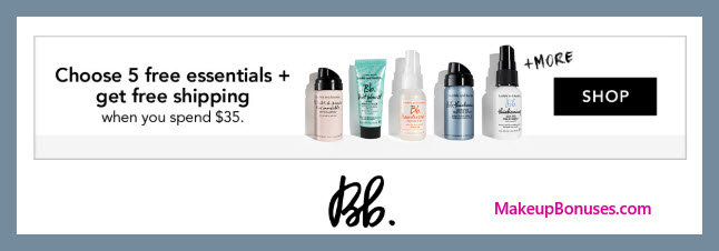 Receive your choice of 5-pc gift with $35 Bumble and bumble purchase #bumbleandbumble