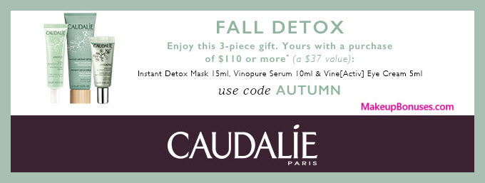Receive a free 3-pc gift with $110 Caudalie purchase #CaudalieUS