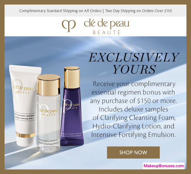 Receive a free 3-pc gift with $150 Clé de Peau Beauté purchase #cledepeau_us