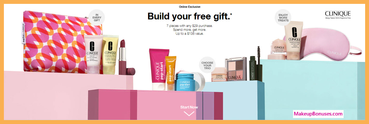 Receive a free 10-pc gift with $55 Clinique purchase #clinique