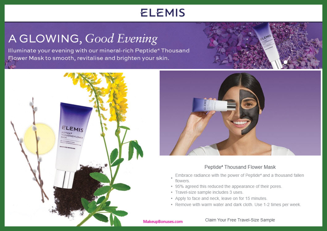 Elemis Free Sample - MakeupBonuses.com