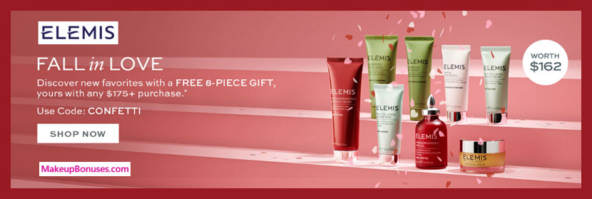 Receive a free 8-pc gift with $175 Elemis purchase #elemis
