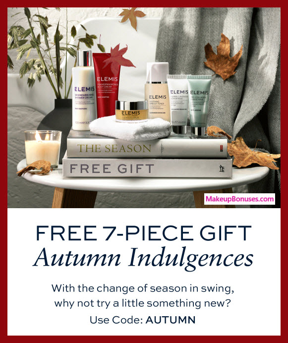 Receive a free 7-pc gift with $150 Elemis purchase #elemis