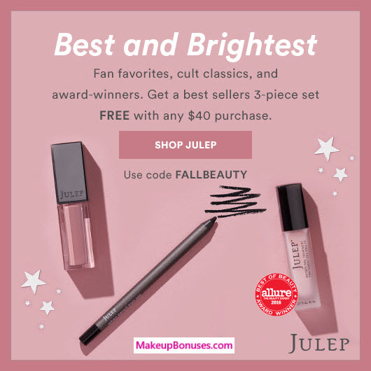 Receive a free 3-pc gift with $40 Julep purchase #julepbeauty
