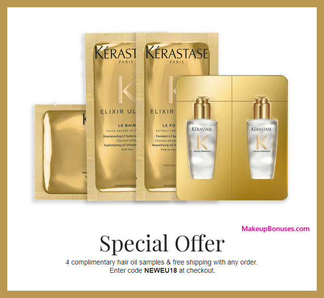 Receive a free 4-pc gift with purchase #KERASTASEUSA