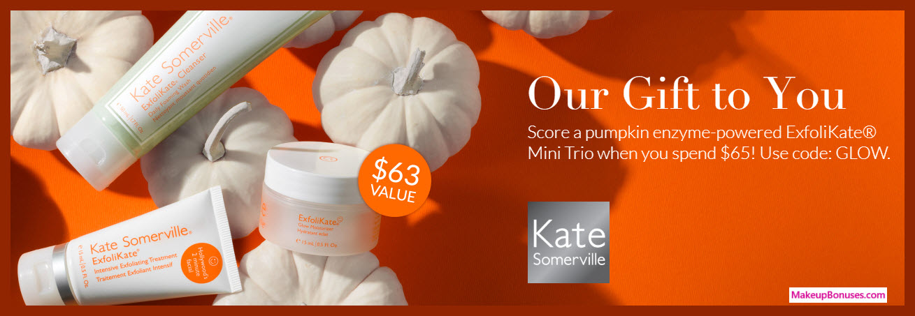 Receive a free 3-pc gift with $65 Kate Somerville purchase #katesomerville