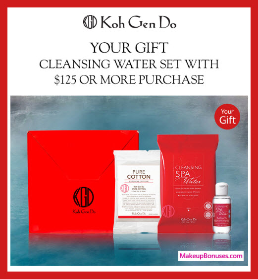 Receive a free 3-pc gift with $125 Koh Gen Do purchase #koh_gen_do