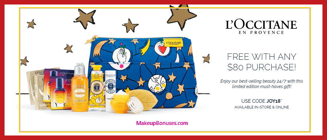 Receive a free 10-pc gift with $80 L'Occitane purchase #loccitaneUSA