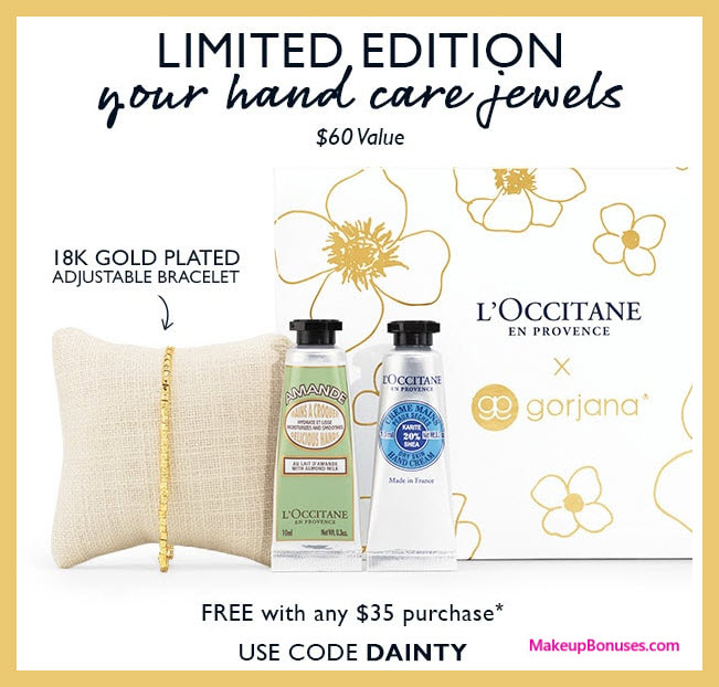Receive a free 3-pc gift with $35 L'Occitane purchase #loccitaneUSA