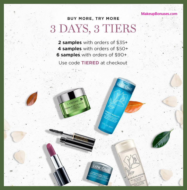 Receive a free 4-pc gift with $50 Lancôme purchase #lancomeUSA