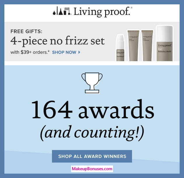 Receive a free 4-pc gift with $39 Living Proof purchase #LivingProofInc