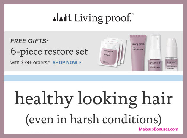 Receive a free 6-pc gift with $39 Living Proof purchase #LivingProofInc