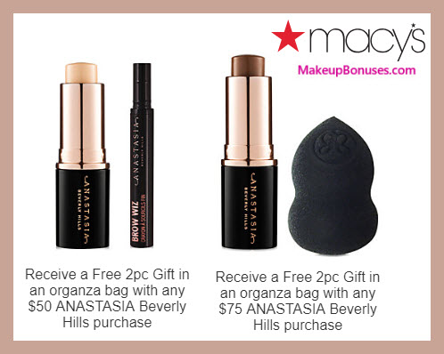 Receive a free 4-pc gift with $75 Anastasia Beverly Hills purchase #macys
