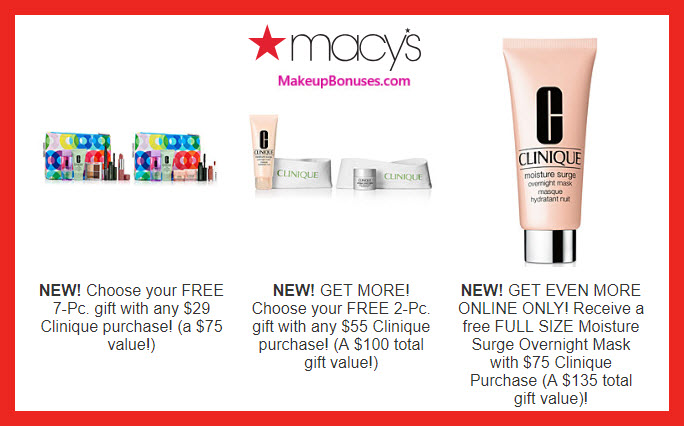 Receive a free 10-pc gift with $75 Clinique purchase #macys